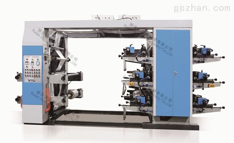 宽幅600mm 6色层叠式柔印机 柔版编织袋印刷机