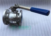 弹簧式自动复位法兰球阀 手动弹簧阀