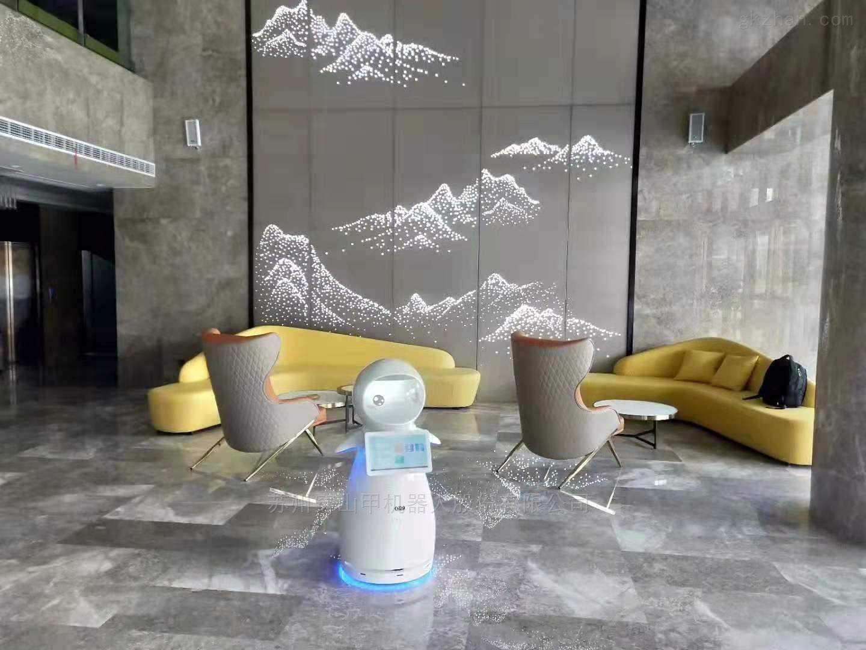 智慧酒店大厅迎宾接待讲解服务机器人