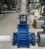 WZ644TC-PN10~PN16气动双闸板磨陶瓷闸阀