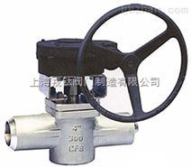 X61F美标承插焊式卡套旋塞阀