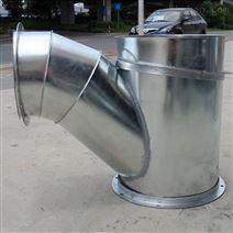 風管順水三通定做 車間廢氣治理排放管道