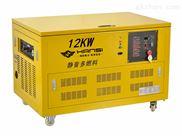 进口移动式12kw汽油发电机