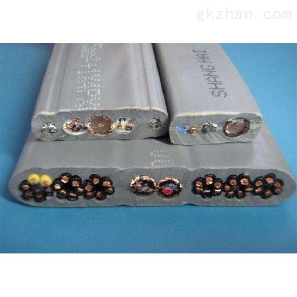 复合物行车扁电缆ZR-YFGPB镀锌钢丝PVC绝缘