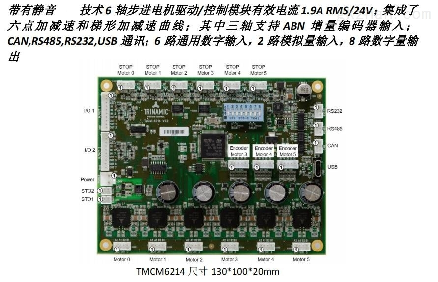6轴步进电机驱控静音CANRS485USB
