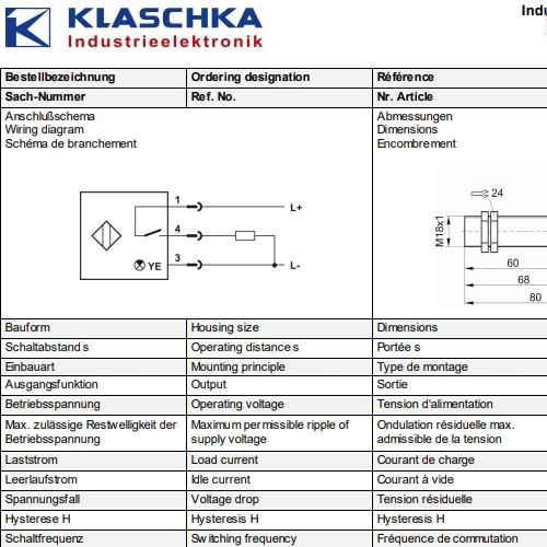 德国KLASCHKA科希卡DSD系列测量传感器