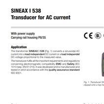 希而科 供应 GMC 变送器SINEAX i538 系列