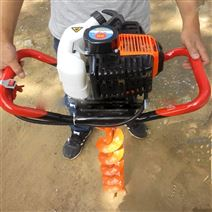 果园挖坑机 汽油地钻钻眼机 手提打桩立柱机