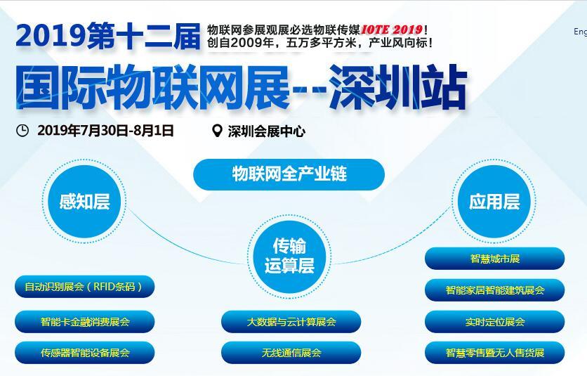 2019第十二届注册送28元体验金物联网展——深圳站