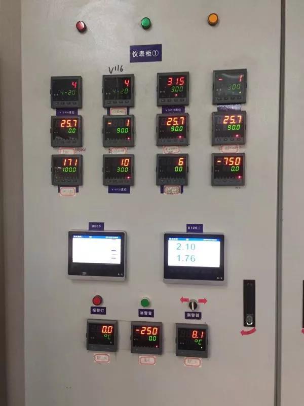 NHR-8700C系列32觸摸式數據采集無紙記錄儀在耐火材料廠中的應用