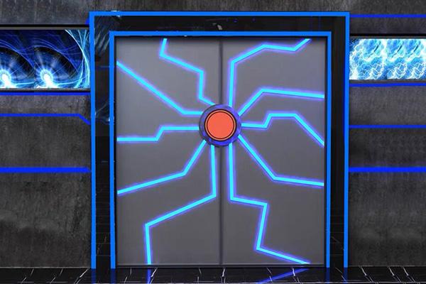 网红科幻智能门